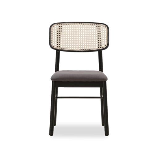 Knot Rattan Dining Chair - Black