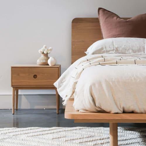 Serene Queen Bed - Oak