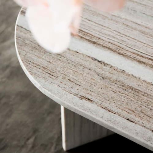 Edge Oval Coffee Table - Sand Granite