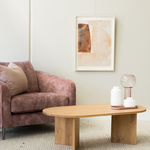 Edge Oval Coffee Table - Oak