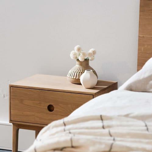 Ambience Bedside Table - Oak