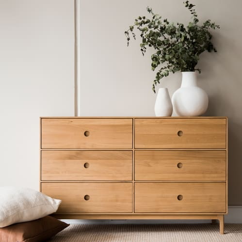 Ambience 6 Drawer Chest - Oak