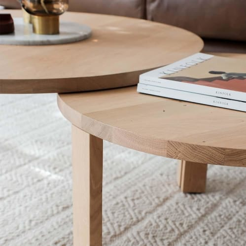 Layer Nesting Coffee Table Large - Oak