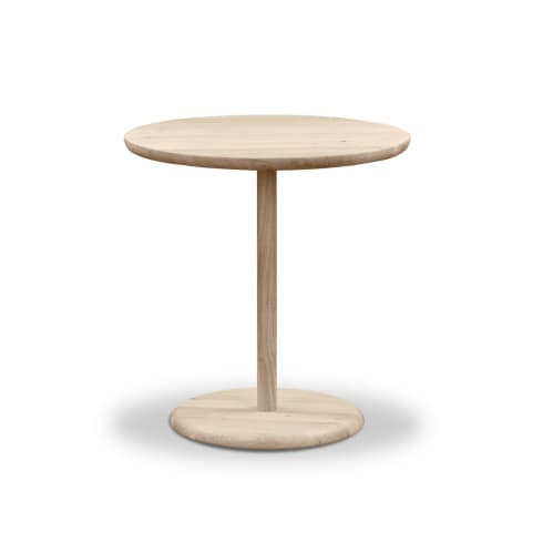 Turn Side Table - Whitewash Oak