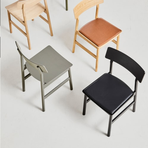 Pause Dining Chair 2.0 - Black/Black Leather