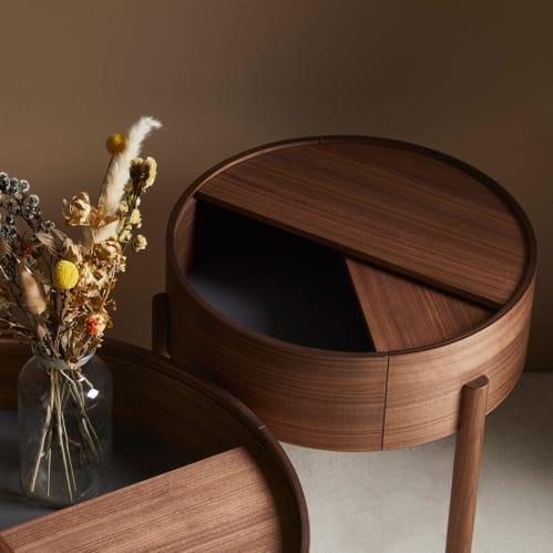 Arc Side Table - Walnut
