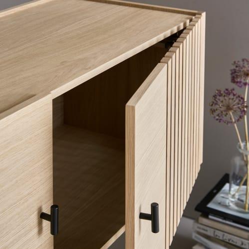 Array Low Sideboard - Oak/Black