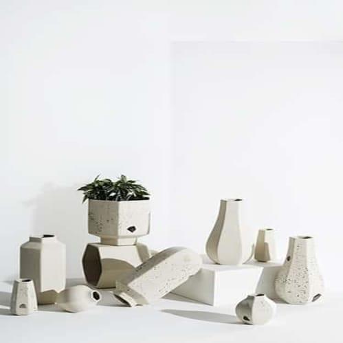 Carved Vase Rounded - Natural