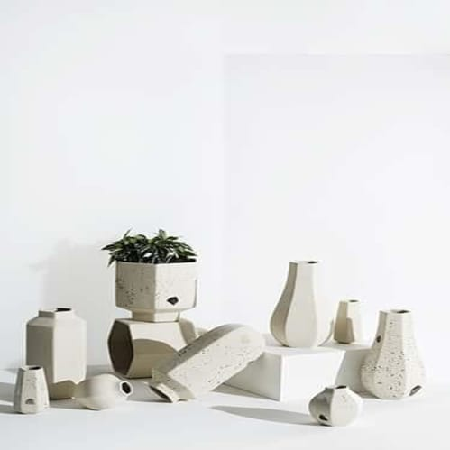 Carved Vase - Confetti