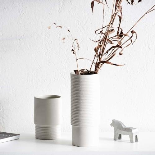 Tall Vase - Small White