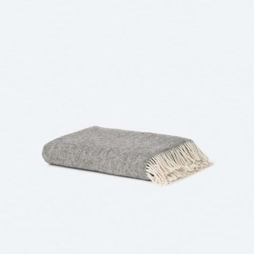 Wool Throw - Grey