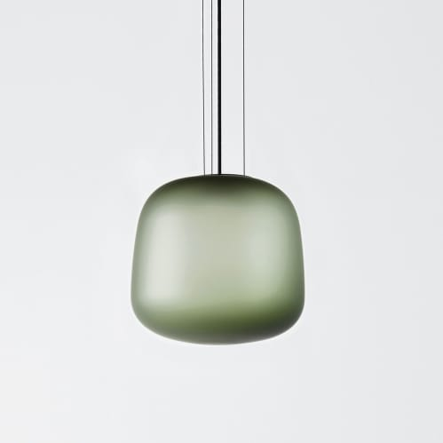 AB Small Pendant - Frosted Smoke Grey/Green