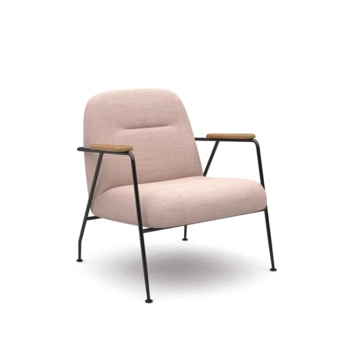 Puffy Lounge Chair With Arm - Dusk