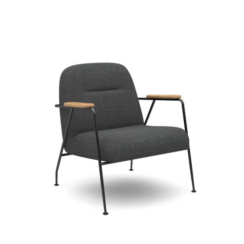 Puffy Lounge Chair With Arm - Charcoal