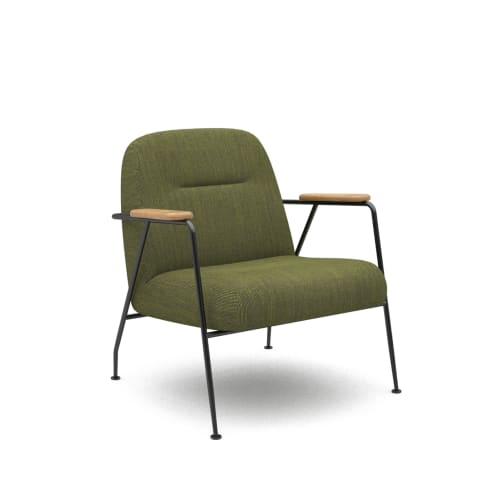 Puffy Lounge Chair With Arm - Forest