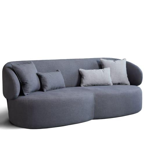 Long 3 Seater Sofa - Charcoal