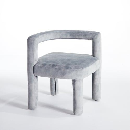 Mate Dining Chair - Grey Velvet