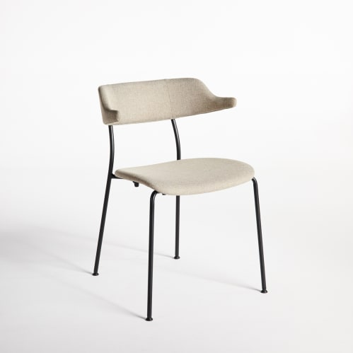 Mou Dining Chair - Beige / Black