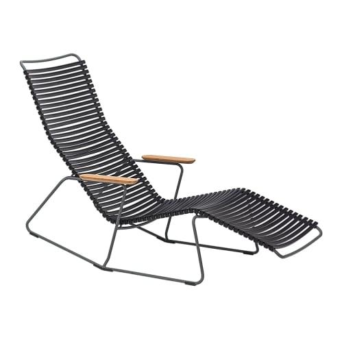 Click Outdoor Sun Lounge - Black