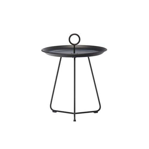 Eyelet Tray Side Table 45cm - Black