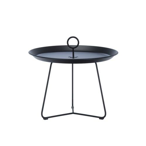 Eyelet Tray Coffee Table 60cm -  Black