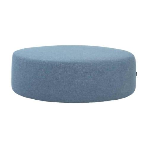 Otis Ottoman Large - Marble Blue