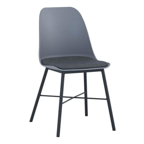 Set of 2 - Rena Dining Chair - Black/Grey