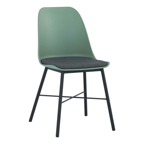 Set of 2 - Rena Dining Chair - Black/Green