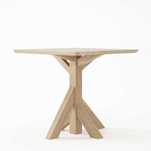 Ki Square Dining Table 80cm Oak