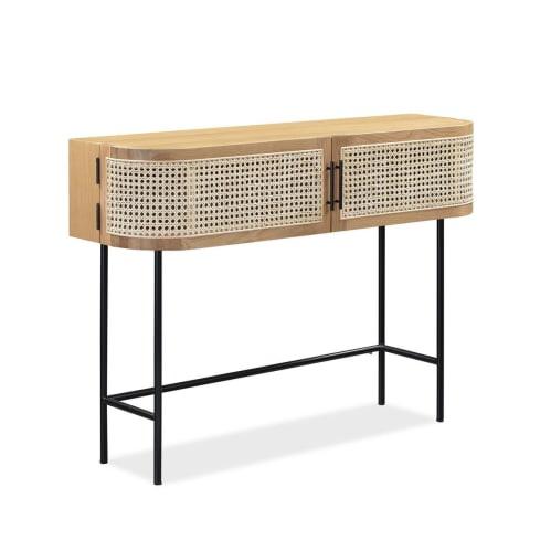 Embrace Rattan Console Table - Oak