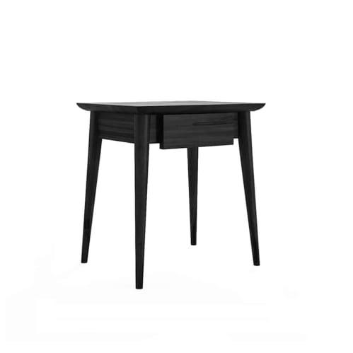Vintage Bedside Table Small - Satin Black