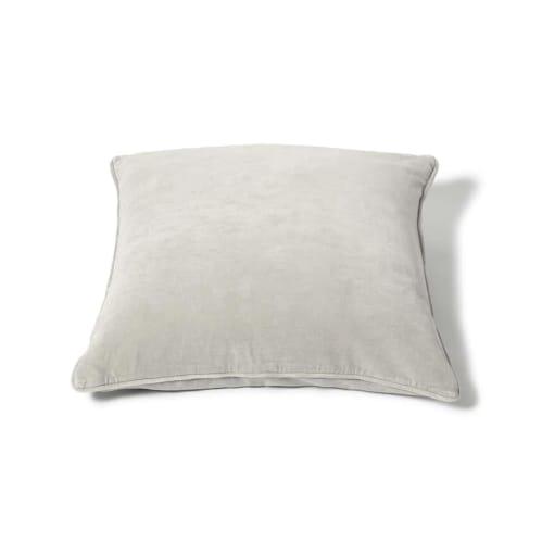 Square Velvet Cushion - Ash
