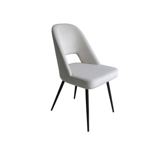 Concept Dining Chair - Vanity Velvet Blanc Creme 01