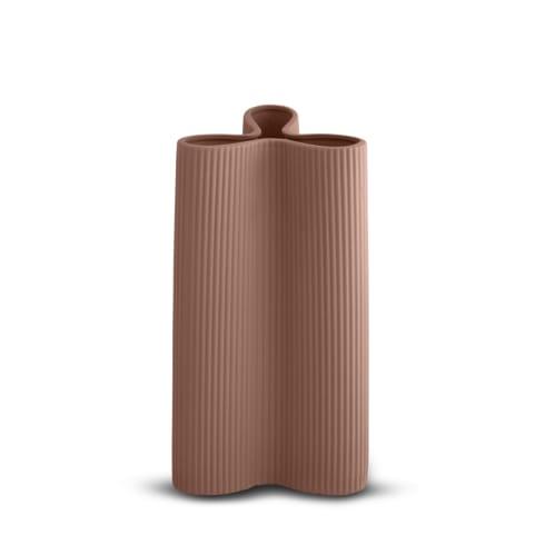 Ribbed Petal Vase Large - Ochre