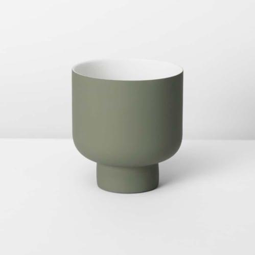 Fergus Small Planter - Olive