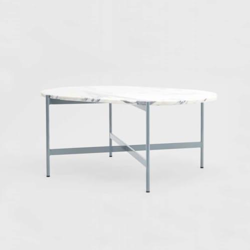 Rhonde Marble Coffee Table - Dusty Blue
