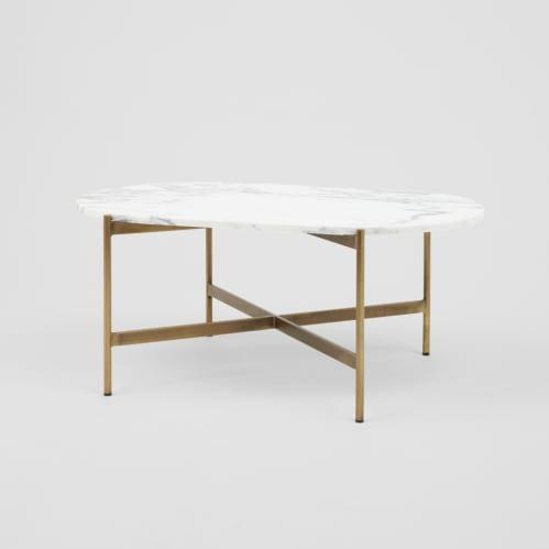 Rhonde Marble Coffee Table - Brass