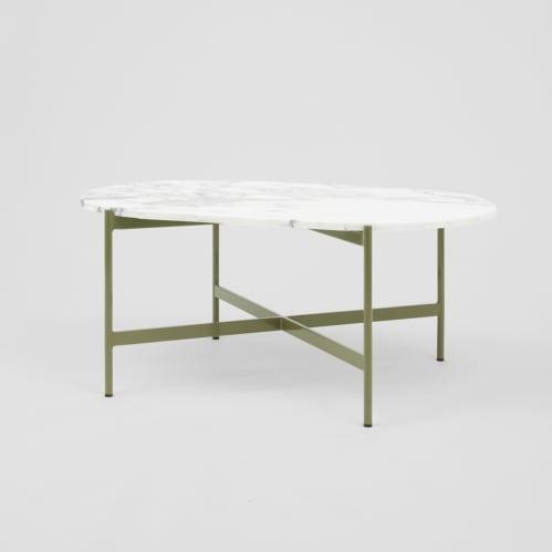 Rhonde Marble Coffee Table - Olive