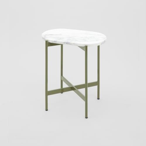 Rhonde Marble Side Table - Olive