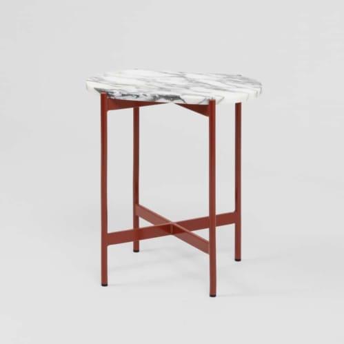 Rhonde Marble Side Table - Rust