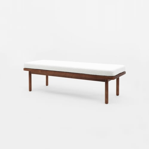 Scout Bench - Boucle/Walnut