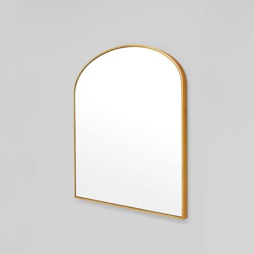 Bella Large Arch Mirror - Brass