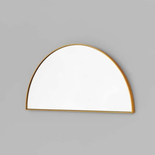 Bjorn Arch Low Mirror - Brass