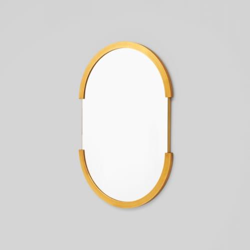 Dawn Oval Mirror - Brass