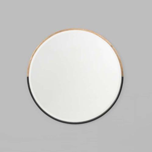 Half Moon Round Mirror - Brass