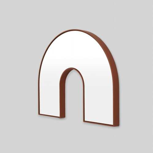 Kaari Arch Mirror - Rust
