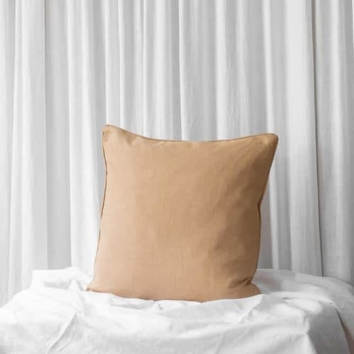 Mia Square Cushion - Linen Biscuit