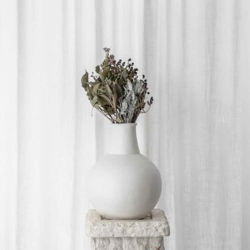 Greta Clay Vase - White Large