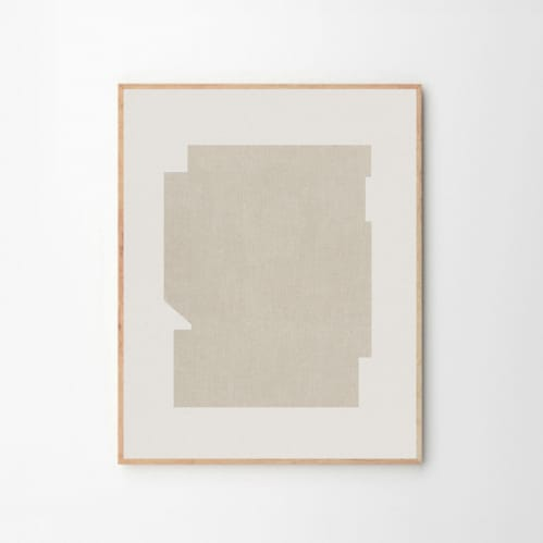 Bauhaus Beige Print
