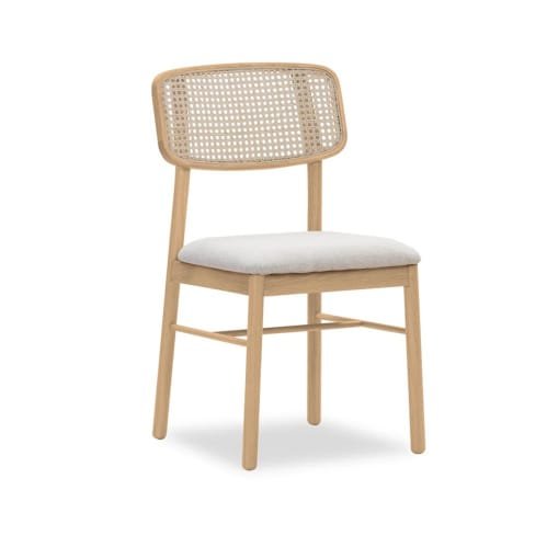 Knot Rattan Dining Chair - Oak